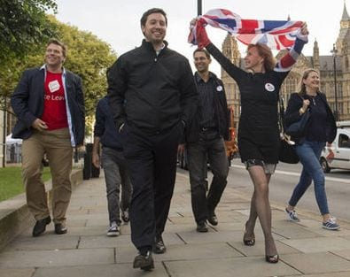 Brits take to the streets to celebrate.