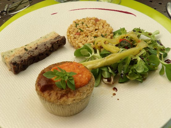Tempting plate of local recipes at Girocedre