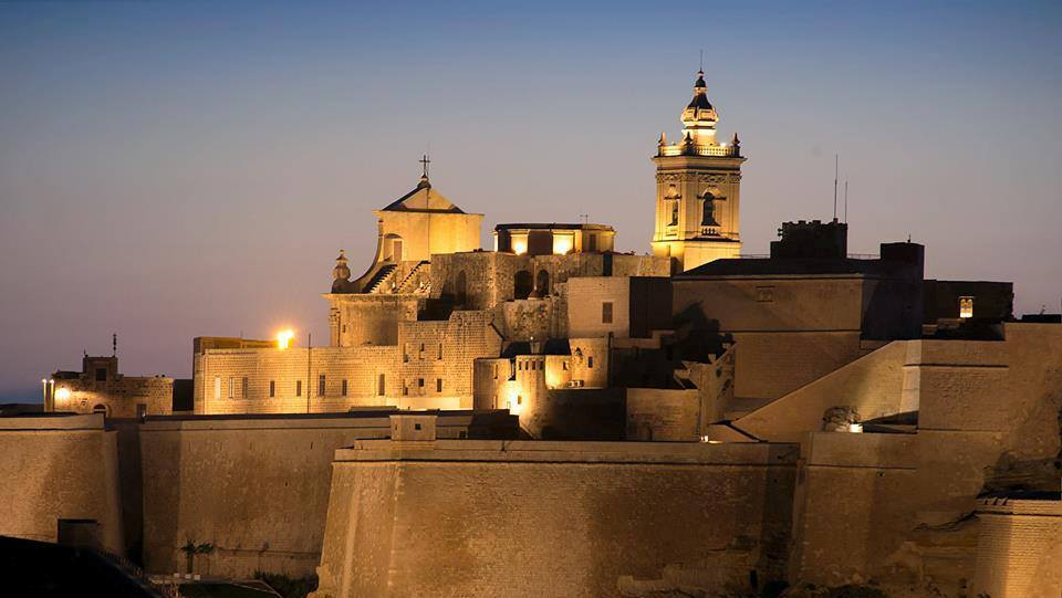 A view of The Cittadella in the early evening.