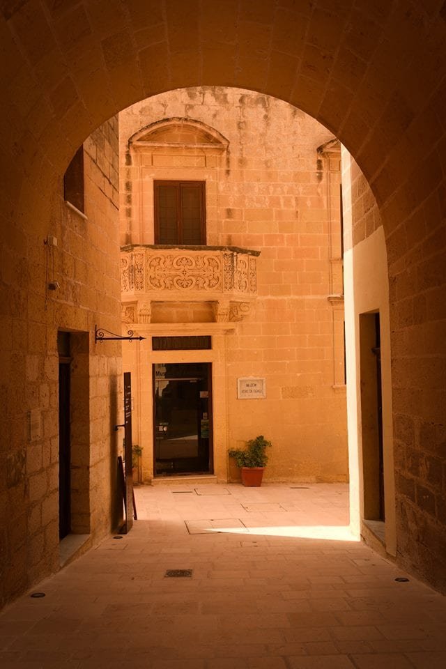 Narrow lanes, arches and cool courtyards.