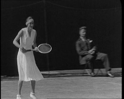 The first Wimbledon championship at the All England Lawn Tennis and Croquet Club in 1877