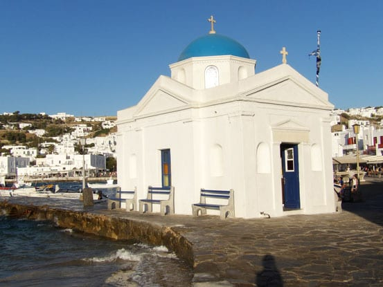 one of the many churches of Mykonos
