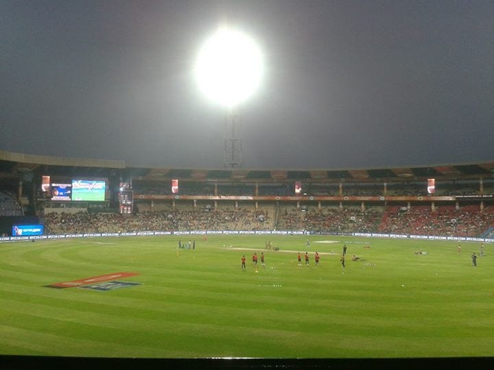 Chinnaswamy under lights with the dew factor