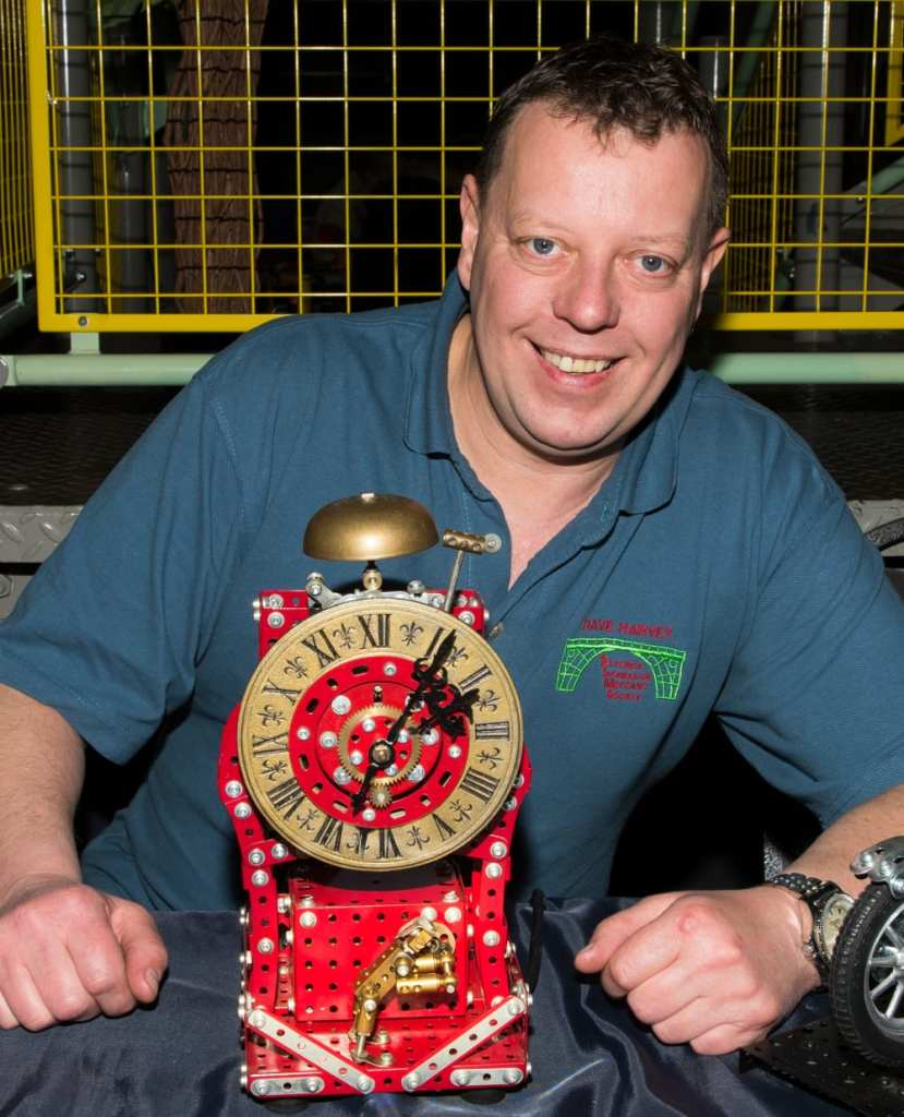 Dave-Harvey-with-a-Meccano-clock