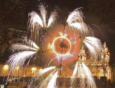 Ground fireworks synchronised to music - a Maltese speciality.