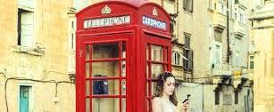 ....but Malta still retains its British links today. Royal Crown telephone kiosk in Valletta.