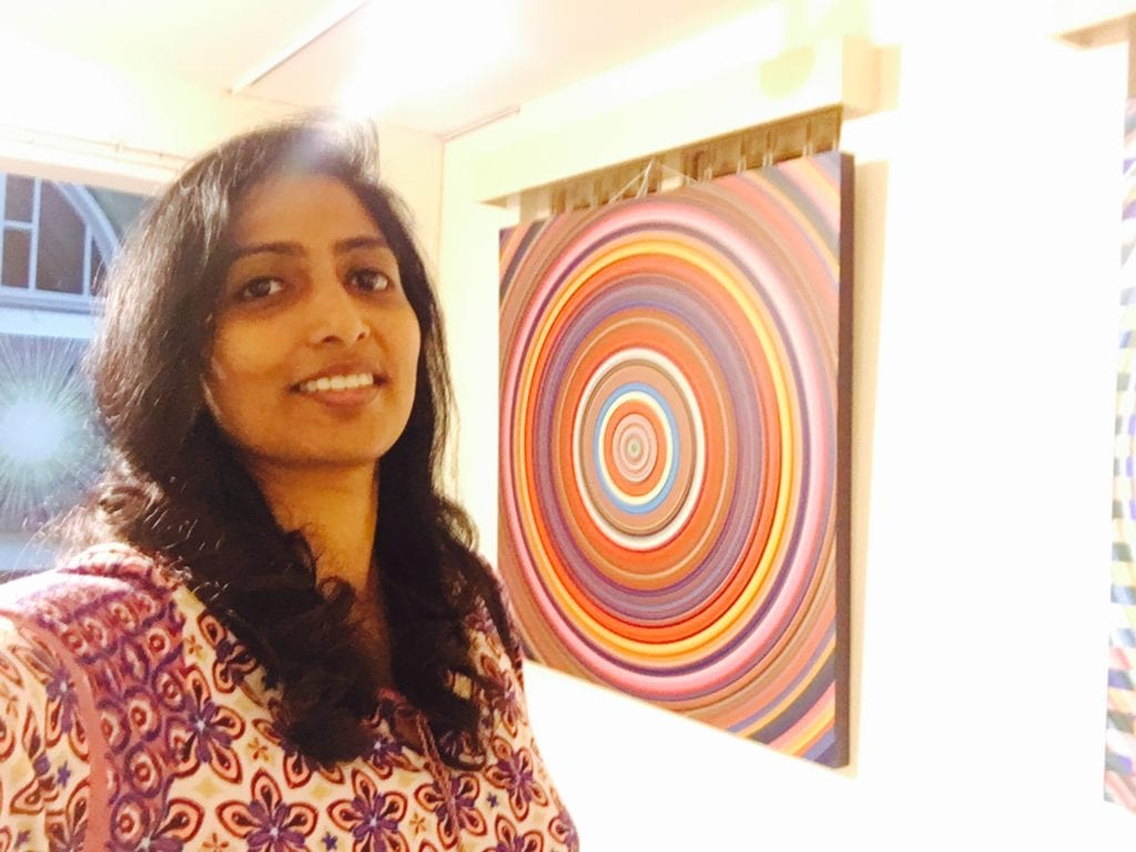 Mind Matterz, me and 'mindfulness'- backdrop of Mr. Ghanshyam Gupta's painting.