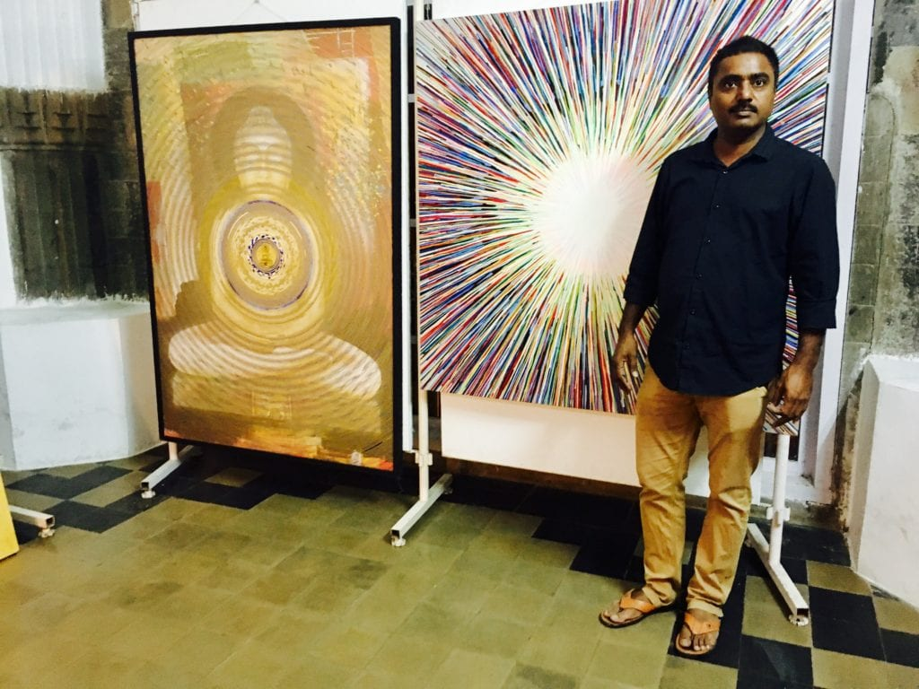 Mr. Ghanshyam Gupta, artist, art curator and founder of Generation Art Foundation.