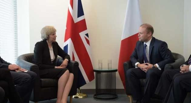 -Maltese-Prime-Minister-Joseph-Muscat-meets-British-Prime-Minister-Theresa-May.