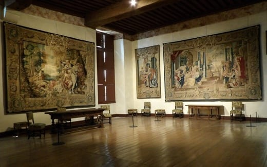 th C tapestry in Chateau de Cadillac