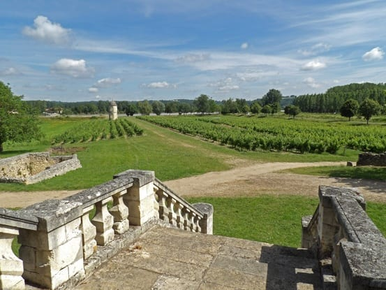 Chateau de Portets vineyards