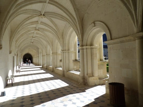 The cloister arches