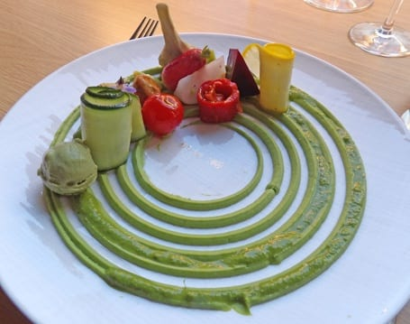 Tempting vegetables by Chef Thibaut Ruggeri