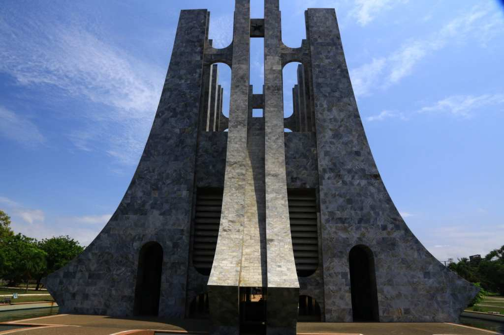The large marble mausoleum dedicated to the first president Accra