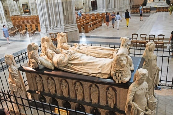 Recumbent statue of the last Duke of Brittany in Nantes Cathedral