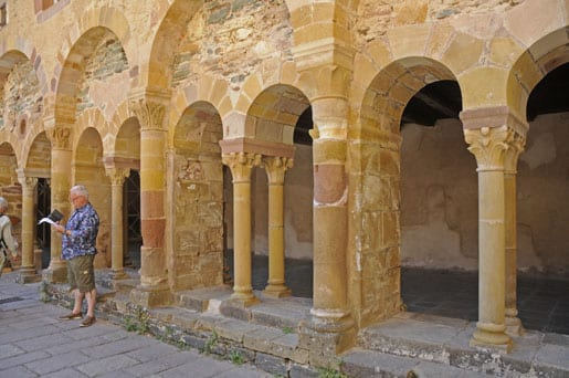 Conques abbey cloister