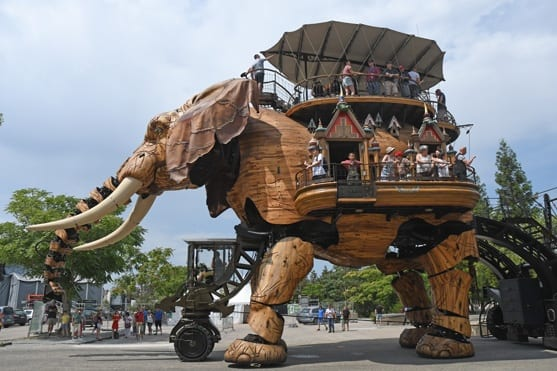 The famous walking elephant of the Machines de lIle