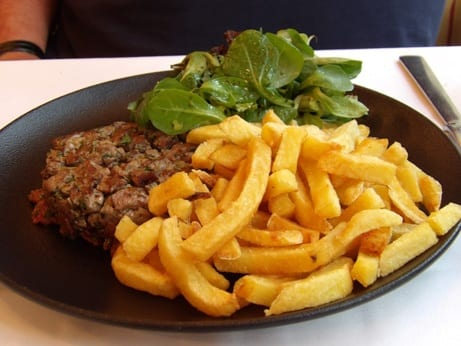 Homemade tartar steak at La Cigale