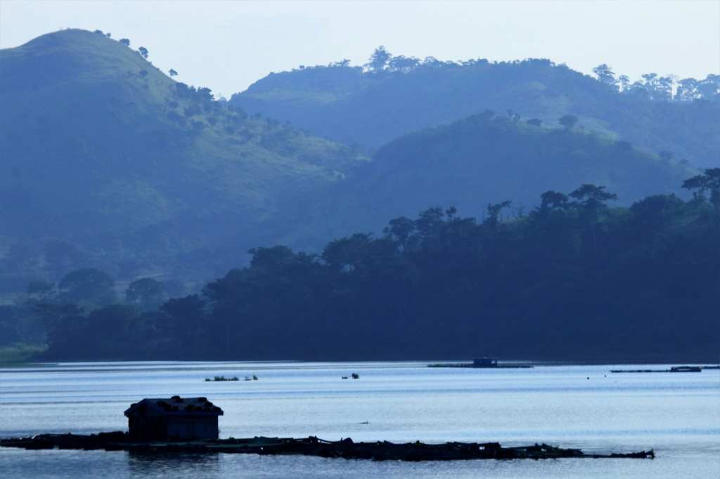 Small fishing hut on Lake Volta near Akosombo