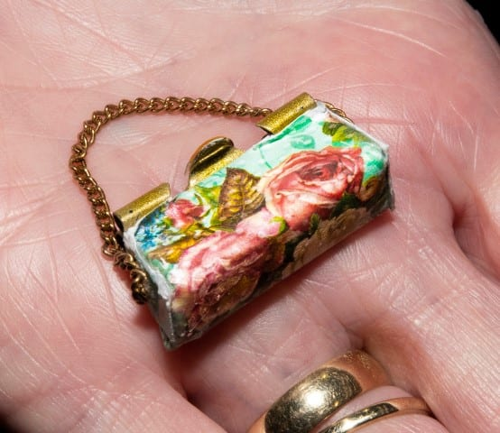 Pic Rugby Miniaturists showed how to make little handbags at their workshop