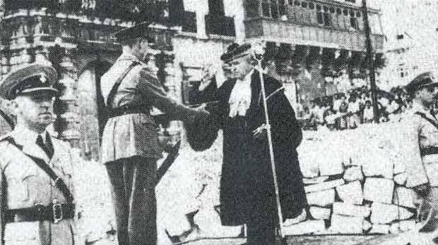 MalDia The official presentation of the George Cross in Palace Square Valletta