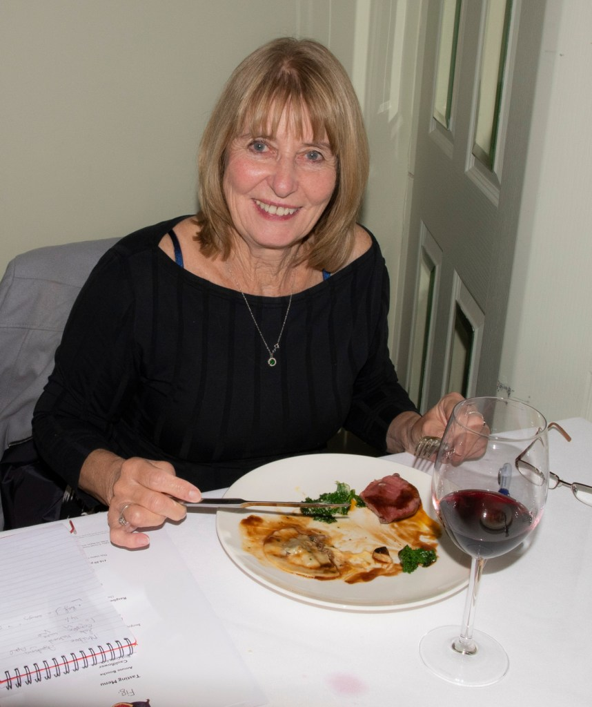 Pic Ann Evans enjoying the hospitality of The Cotswold House Hotel
