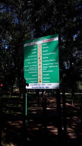 List of extensive park prohibitions and then the last one mentioned is being a 'nuisance' Surely everything mentioned beforehand is exactly that – so how to define what being a 'nuisance' is…