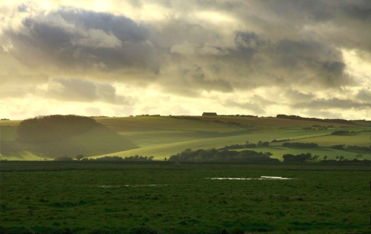 Rural landscape on the Western side of Cuckmere Valley