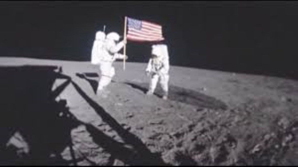 American man on the moon