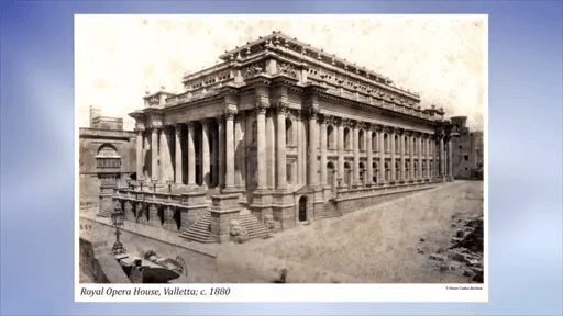 MalDia The Royal Opera House Valletta demolished by Axis bombing in WWII and never restored
