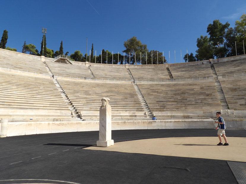 The impressive Olympic stadium