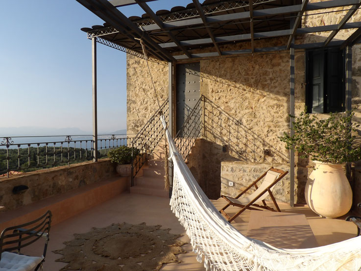 Terrace of a suite at Villa Vager