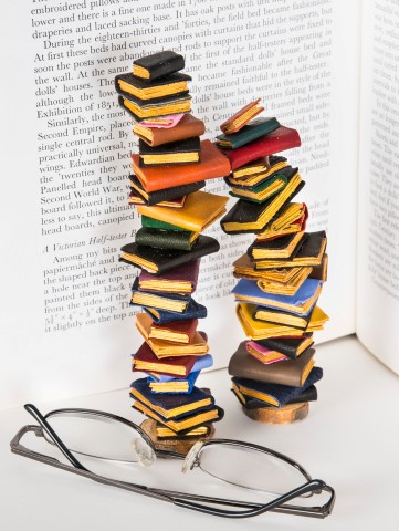 Pic Toppling books by Kastle Kelm Miniatures