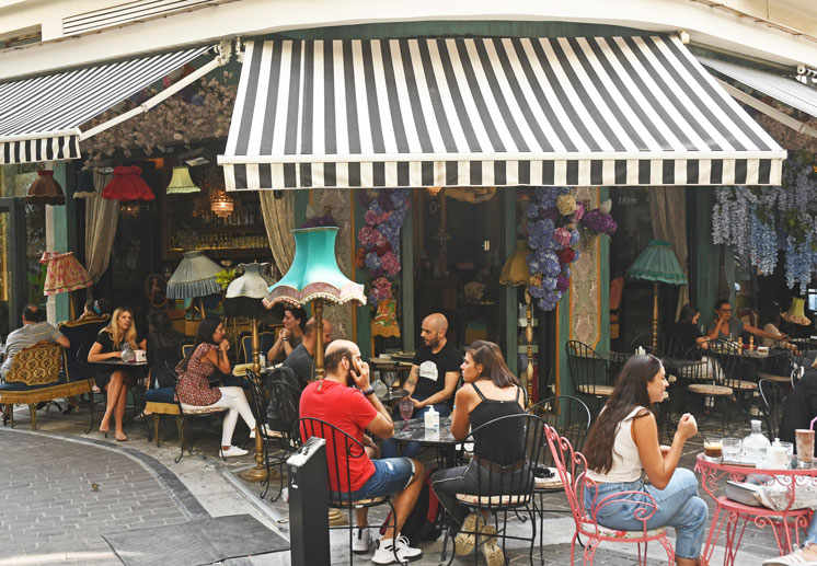 The lively Plaka district at the foot of Acropolis