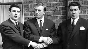 Charlie Kray with his two younger brothers