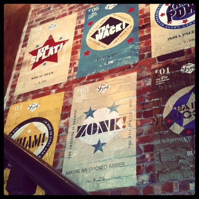 Posters'wall-at-FrogPub-Revolution