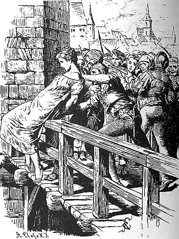 MalDia 09 (28-01-15) The Spanish Inquisition 03 a condemned victim being pushed off a bridge