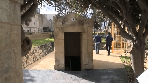 MalDia The entrance to St Pauls Catacombs outside Mdina