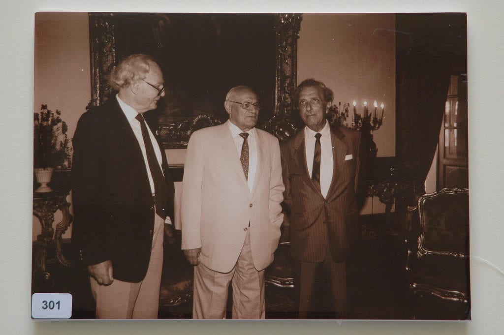 MalDia Dr Arvid Pardo ledt with the late President of Malta Dr Censu Tabone and Dr Victor Ragonesi