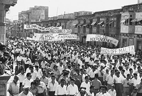 MalDia The clamour for Independence gathered steam in the early s as Malta Labour Party supporters demonstrate