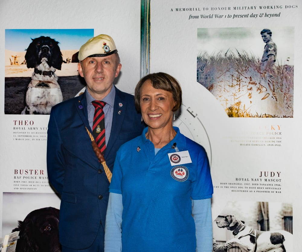 Pic Iain Henderson and Marilys Wilson National Military Working Dog Memorial UK
