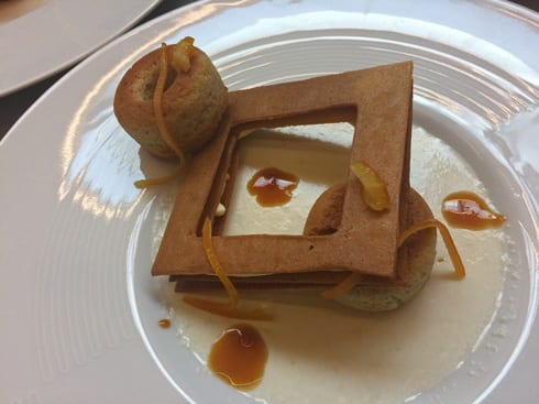 one of the various desserts hommage to Pierre Soulages century