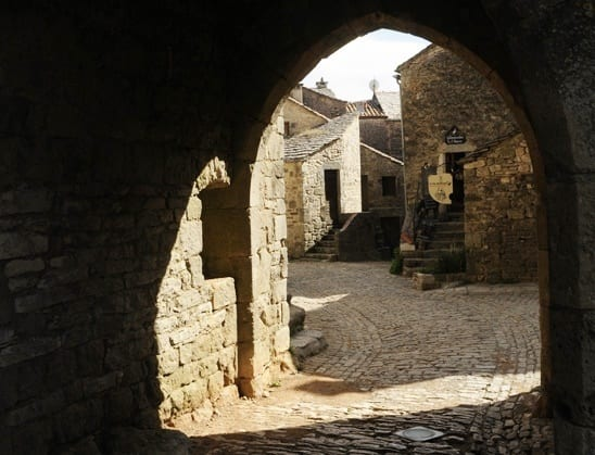 Cobblestone street in La Couvertoirade