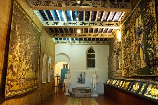 Tapestries by Jean Lurçat displayed in his castle
