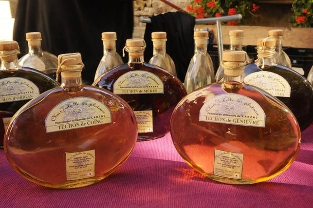 Local artisanal liquors from Larzac