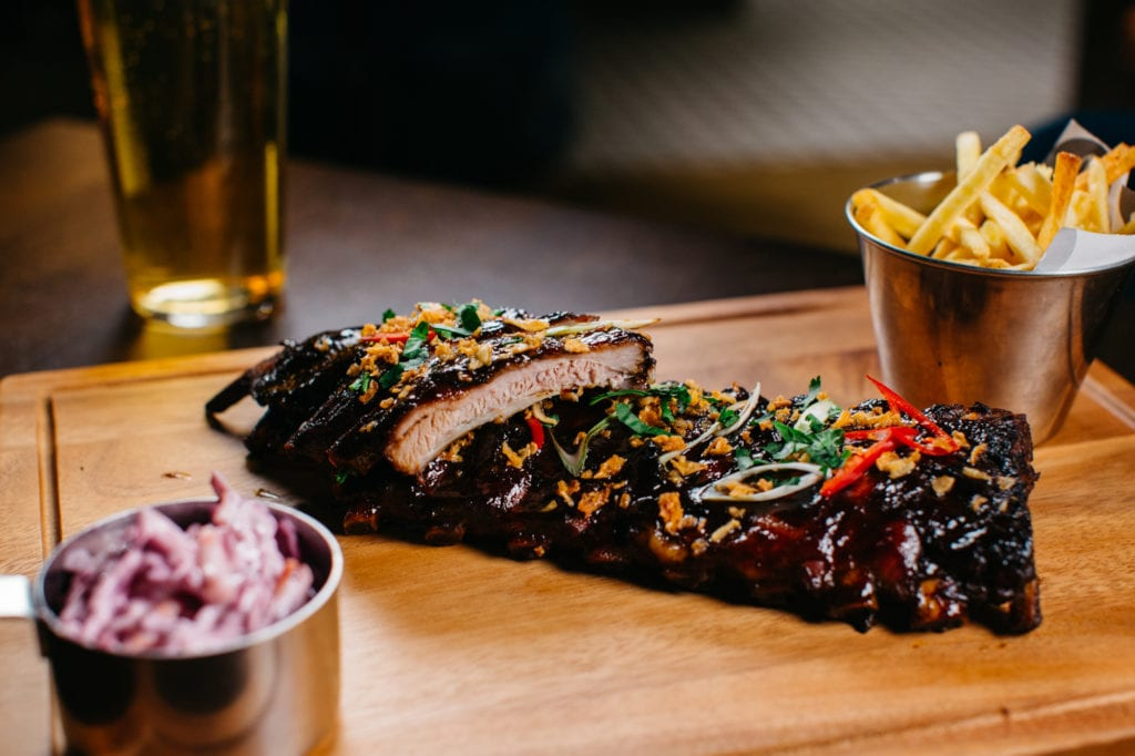 HONEY GLAZED PORK RIBS