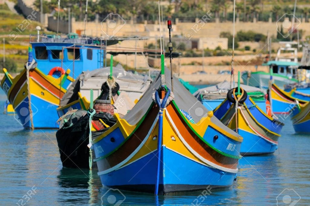 MalDia Traditional Maltese fishing boats known as luzzus
