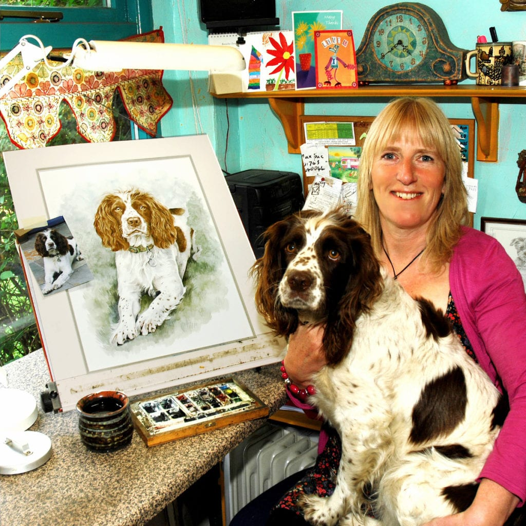Pic At home with Christine Varley