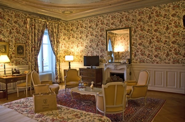 Huge and elegant bedroom at Chateau dIsembourg