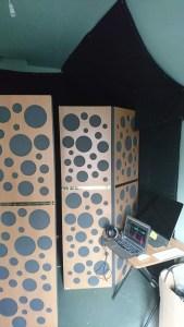 Studio tickling tours – acoustic treatment in Emma Clarkes' home studio